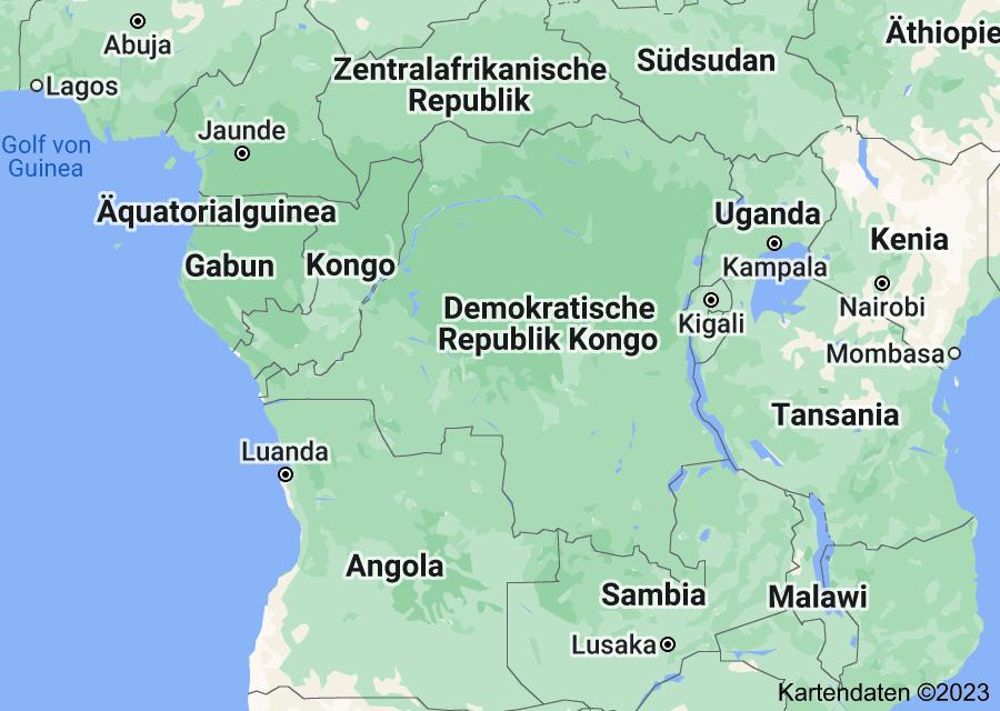 Location of Demokratische Republik Kongo