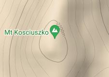 Map of Mount Kosciuszko