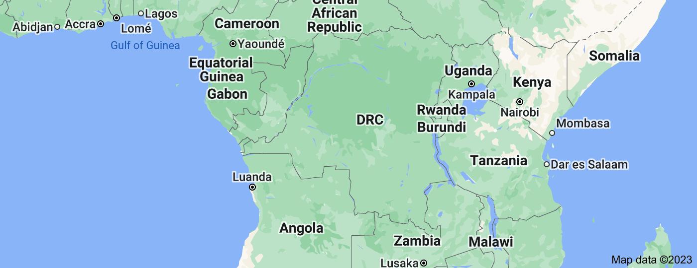 Location of Democratic Republic of the Congo