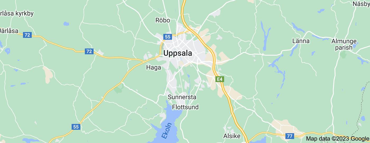 Location of Uppsala