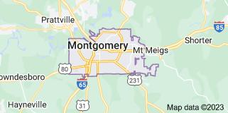 Map of Montgomery, Alabama