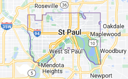 Map of Saint Paul, Minnesota