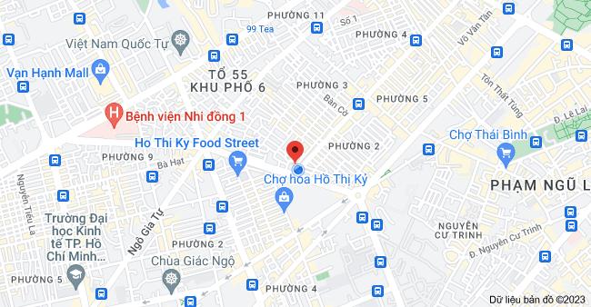 Bản đồ của 800 Nguyễn Đình Chiểu, Phường 1, Quận 3, Thành phố Hồ Chí Minh