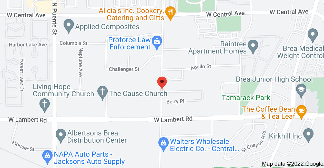 Map of 423 Berry Way, Brea, CA 92821