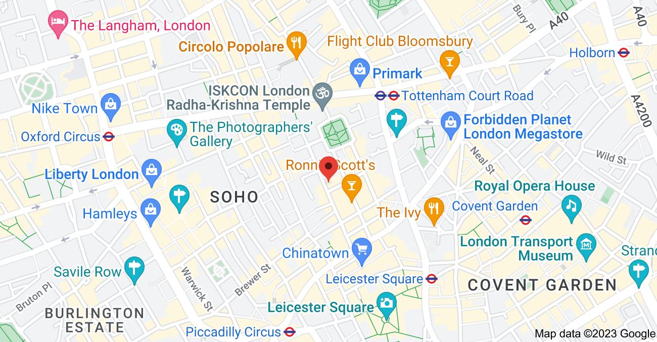 Map of 31 Dean St, London W1D 3RZ, UK