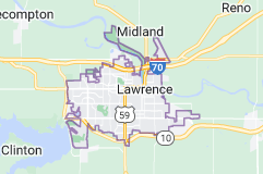 Map of Lawrence, Kansas