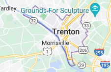 Map of Trenton, New Jersey
