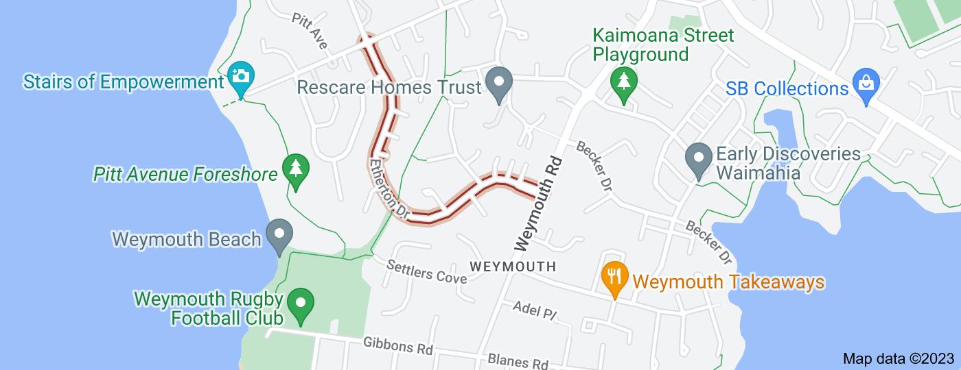 Location of Etherton Drive