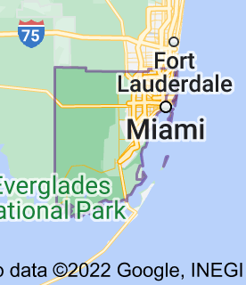 Map of Miami-Dade County