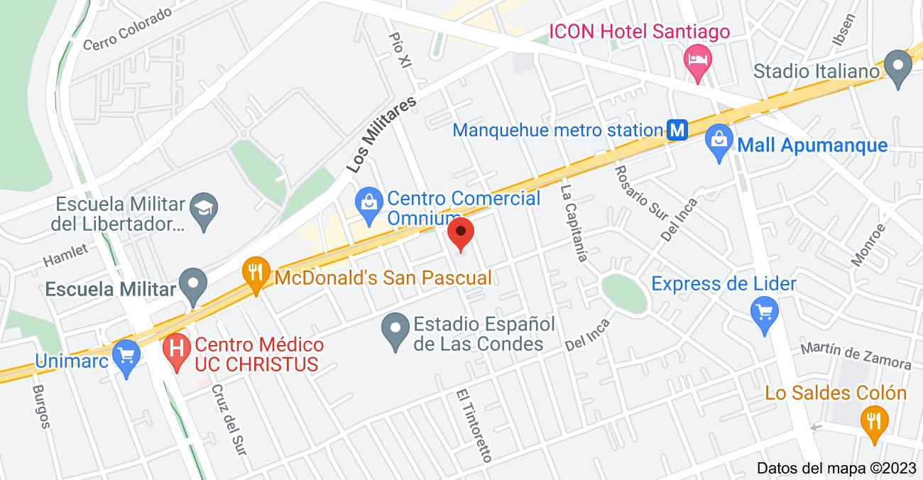 Mapa de Rosa O'Higgins 120, Las Condes, Región Metropolitana