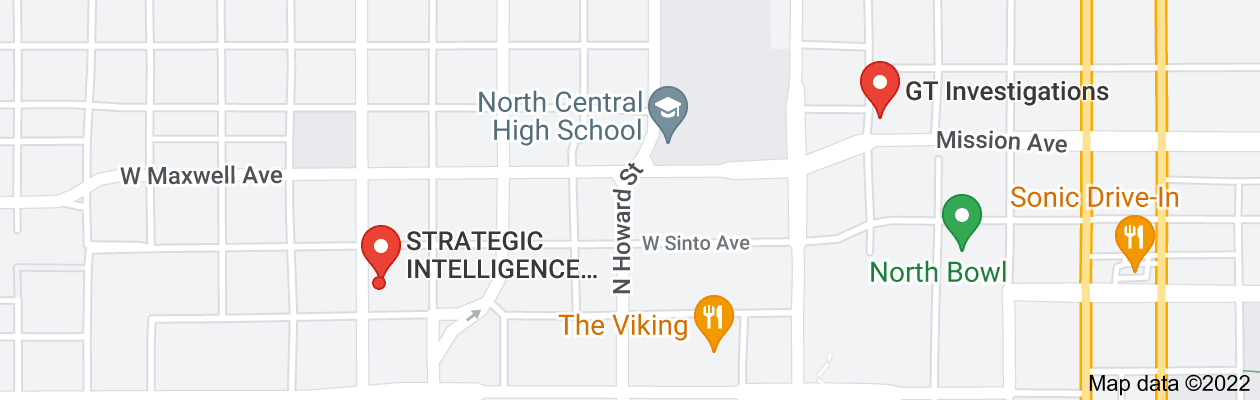 Map of private investigator spokane washington