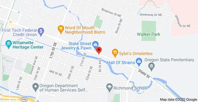 Map of 2290 State St, Salem, OR 97301