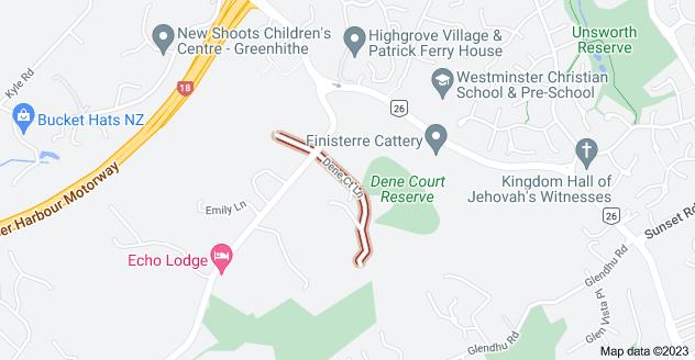 Location of Dene Court Lane