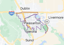 Map of Pleasanton, California