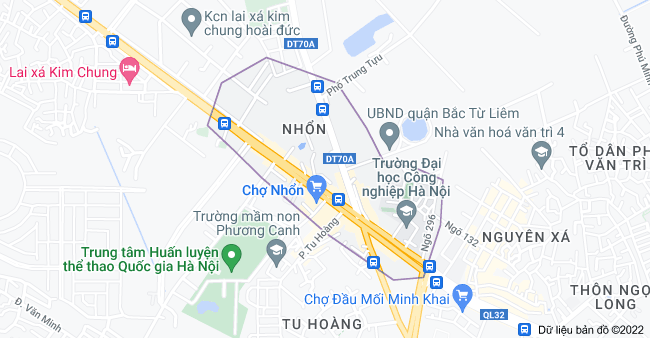 Bản đồ của Nhổn, Minh Khai, Từ Liêm, Hà Nội