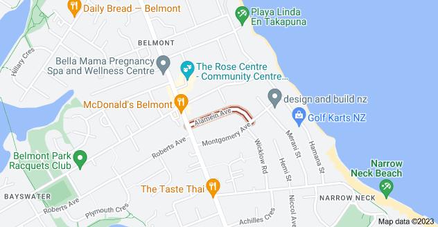 Location of Alamein Avenue