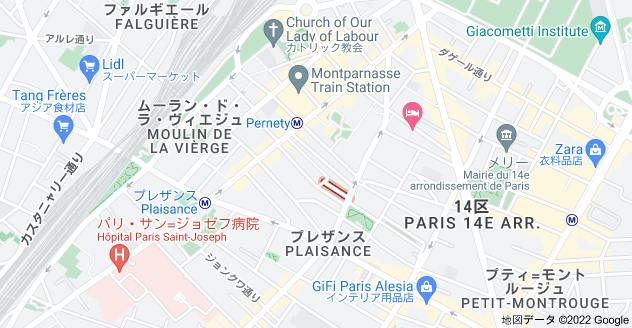 Rue des Thermopyles, 75014 Parisの地図