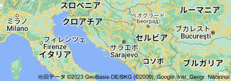Location of ボスニア・ヘルツェゴビナ
