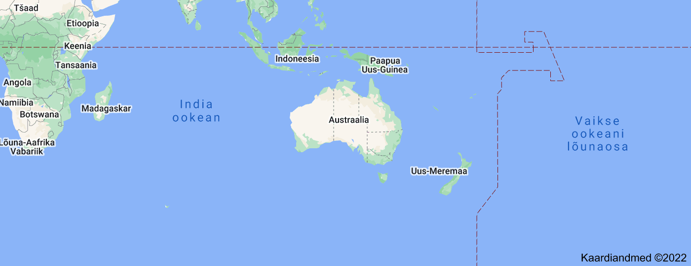Location of Austraalia