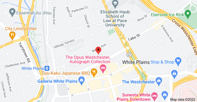 Map of 99 Church St, White Plains, NY 10601