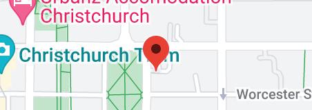 Map of Rydges Latimer Christchurch