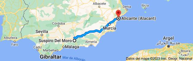 Mapa de Suspiro Del Moro a Alicante (Alacant), Alicante