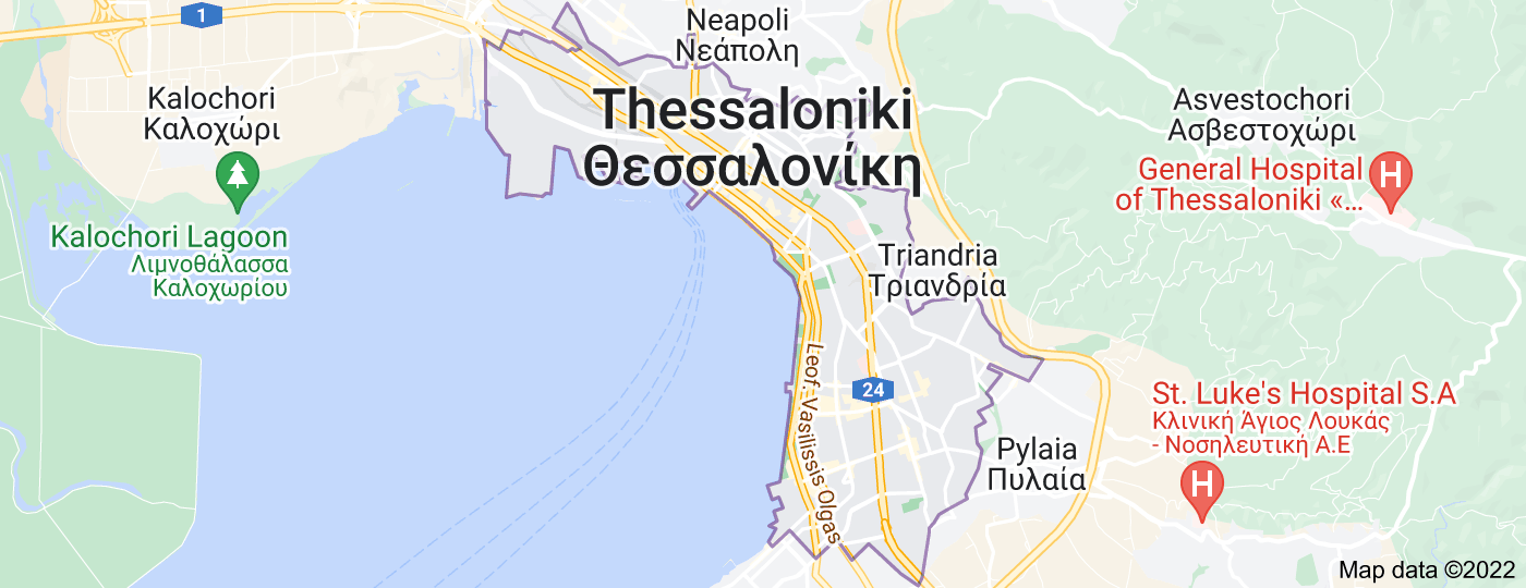 Location of Thessaloniki