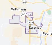 Map of Surprise, Arizona