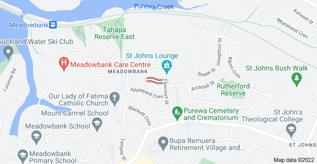 Location of Meyrick Place