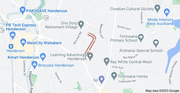 Location of Blacklock Avenue