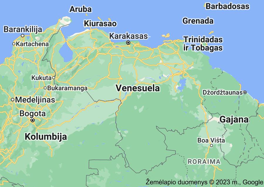 Location of Venesuela