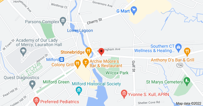 Map of 75 New Haven Ave, Milford, CT 06460