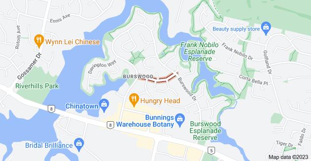 Location of Elderberry Road