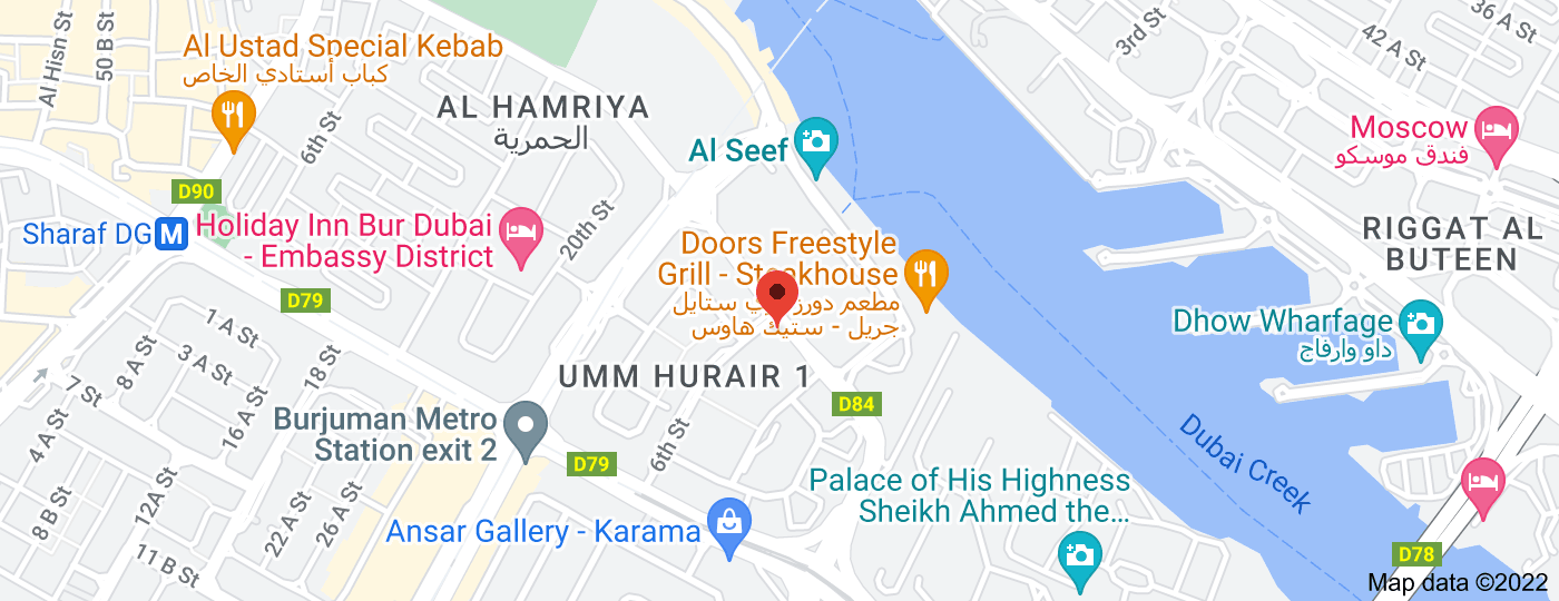Location of Consulate General of the State of Palestine