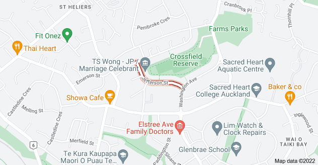 Location of Jefferson Street