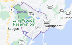 Map of Lynn, Massachusetts