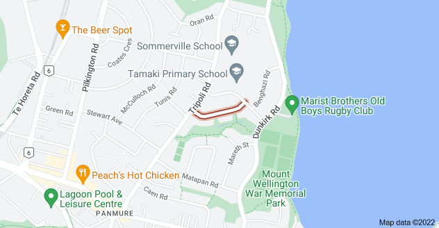 Location of Larsen Road