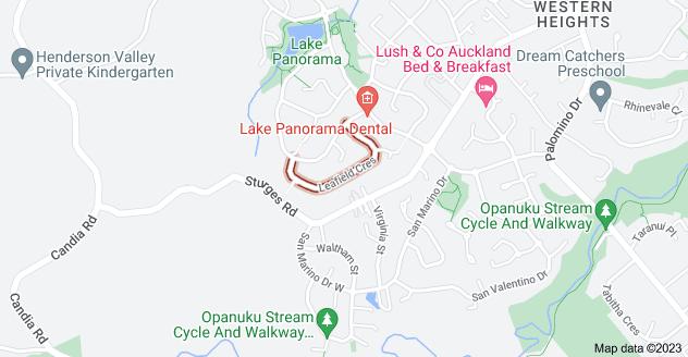 Location of Leafield Crescent
