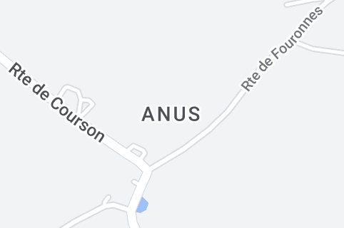 Map of Anus, Yonne