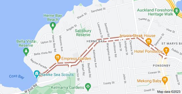Location of Jervois Road