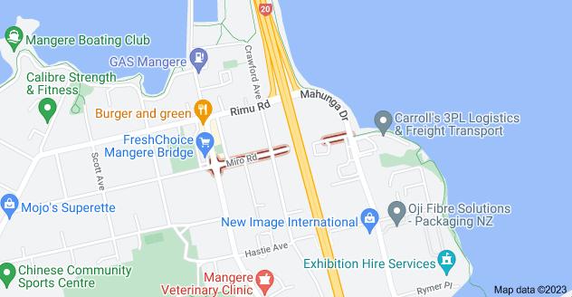Location of Miro Road