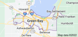 Map of Green Bay