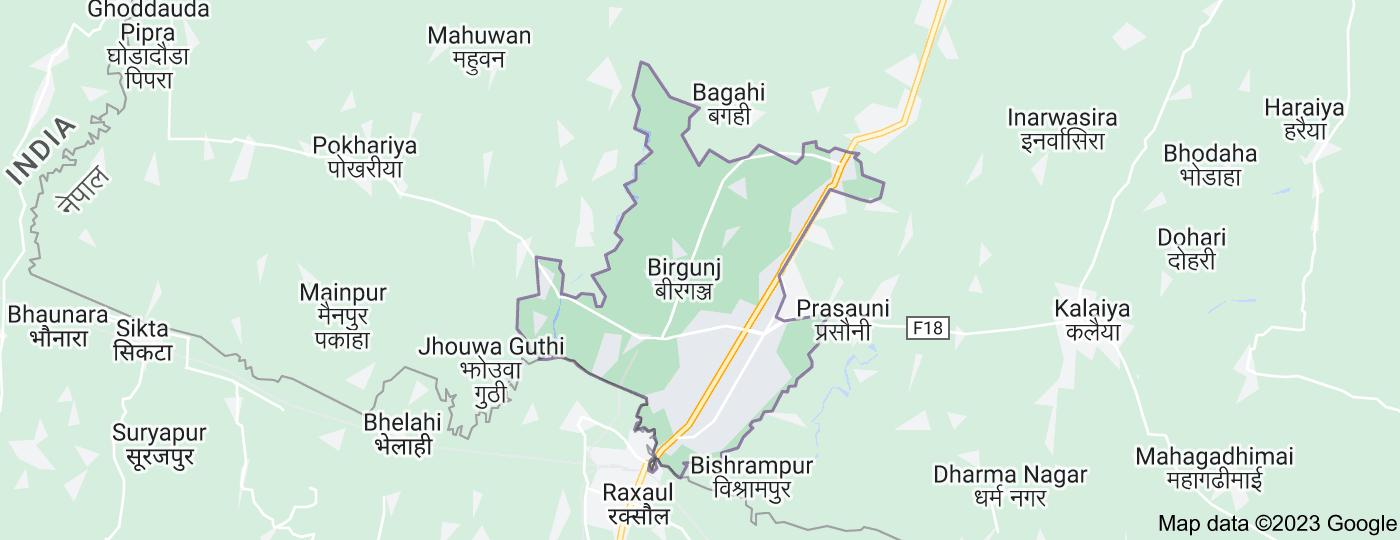 Location of Birgunj