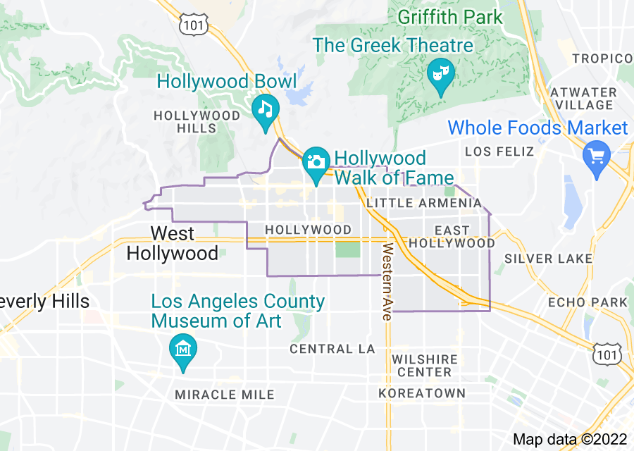 Location of Hollywood