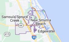 Map of New Smyrna Beach Florida