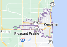 Map of Kenosha, Wisconsin