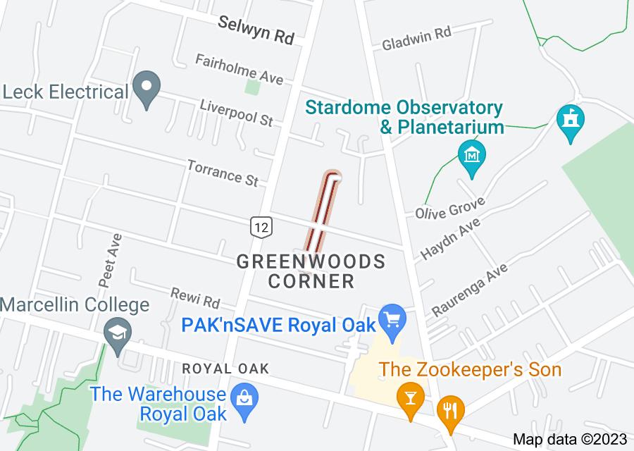 Location of Epworth Avenue