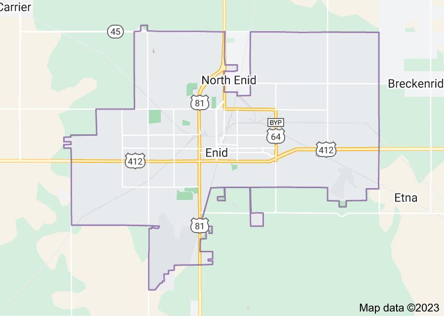 Location of Enid