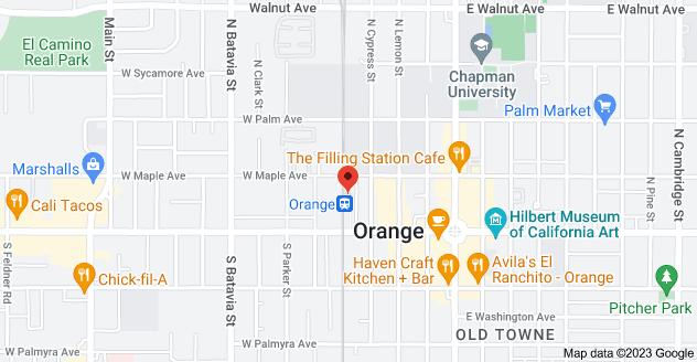 Map of 186 N Atchison St, Orange, CA 92866