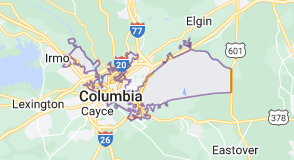 Map of Columbia, South Carolina